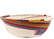 African Basket - Zulu Wire - Small Wide Bowl #77231