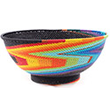African Basket - Zulu Wire - Bowl with Base #77354