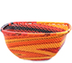African Basket - Zulu Wire - Small Square Bowl #78019