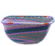 African Basket - Zulu Wire - Small Square Bowl #78021