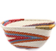 African Basket - Zulu Wire - Small Square Bowl #78023