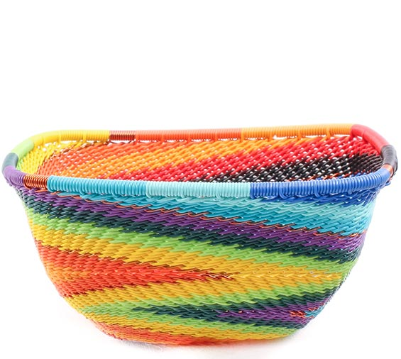 African Basket - Zulu Wire - Small Square Bowl #78027