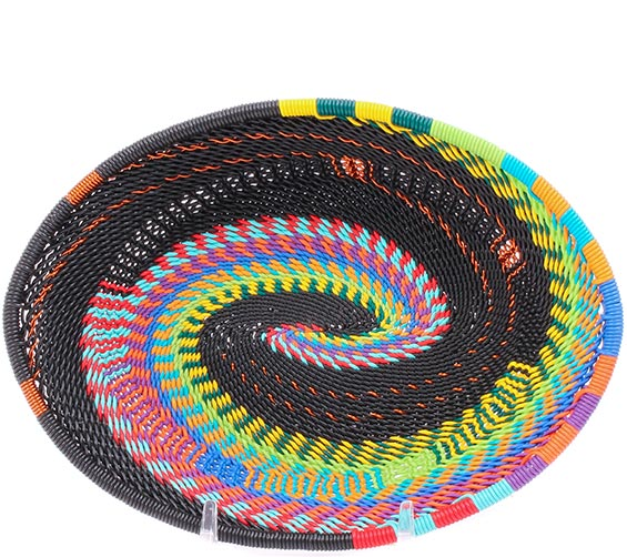African Basket - Zulu Wire - Small Shallow Oval #78063