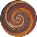 African Basket - Zulu Wire - Shallow Bowl #78657