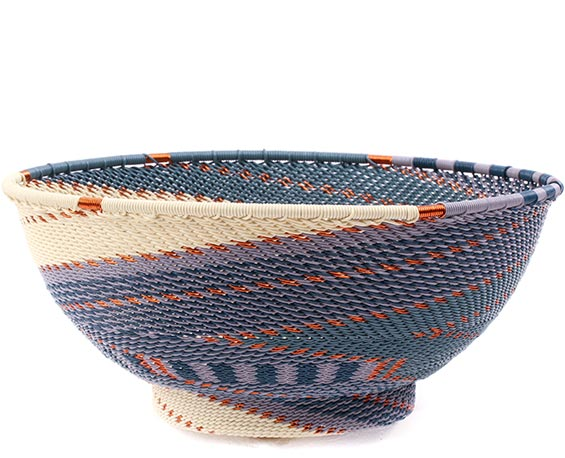 African Basket - Zulu Wire - Bowl with Base #78683