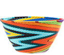 African Basket - Zulu Wire - Deep Bowl #78686
