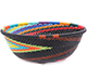 African Basket - Zulu Wire - Small Wide Bowl #78705