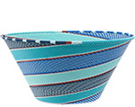 African Basket - Zulu Wire - Extra Large Funnel Bowl #78714