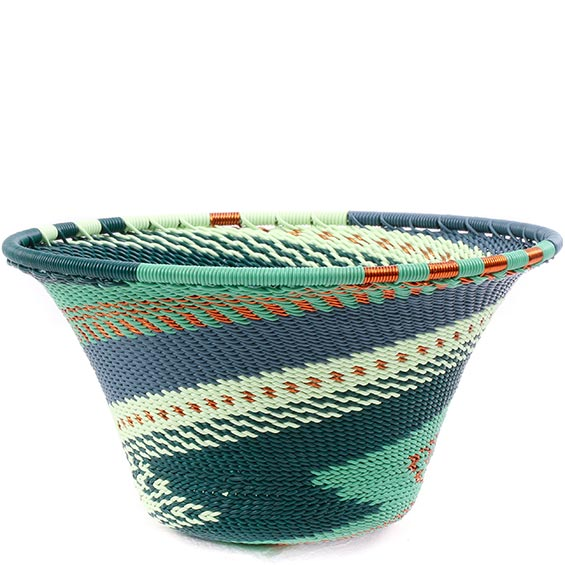 African Basket - Zulu Wire - Small Flared Bowl #78722