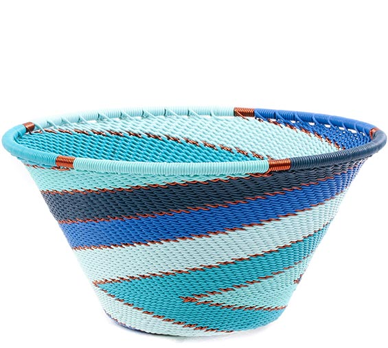 African Basket - Zulu Wire - Small Funnel Bowl #78725