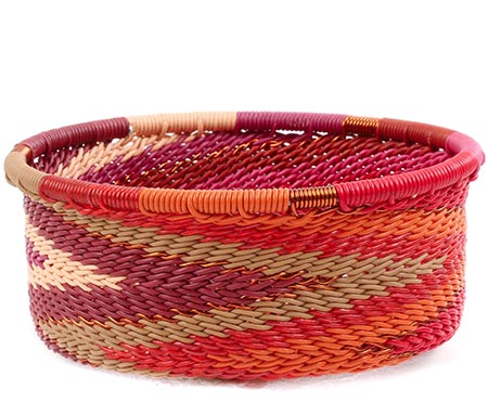 African Basket - Zulu Wire - Small Bowl with Straight Sides #78732