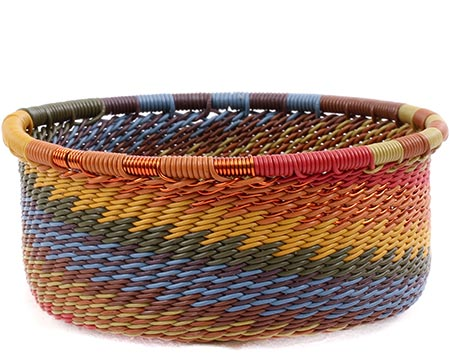 African Basket - Zulu Wire - Small Bowl with Straight Sides #78734