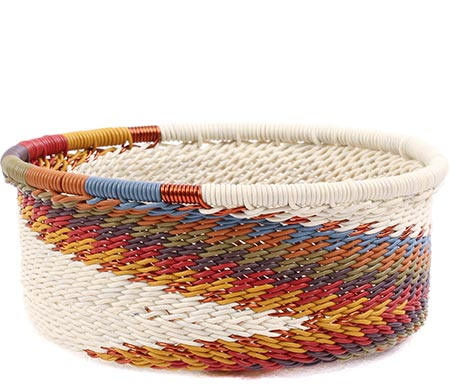 African Basket - Zulu Wire - Small Bowl with Straight Sides #78738