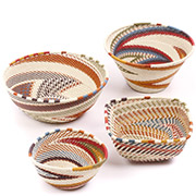 African Telephone Wire Baskets - Desk Set - 4 Pieces - #78803