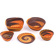 African Telephone Wire Baskets - Desk Set - 5 Pieces - #78811