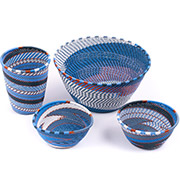 African Telephone Wire Baskets - Desk Set - 4 Pieces - #78820