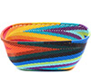 African Basket - Zulu Wire - Square Bowl #79341
