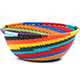 African Basket - Zulu Wire - Small Wide Bowl #79355
