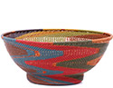 African Basket - Zulu Wire - Bowl with Base #79375