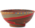 African Basket - Zulu Wire - Bowl with Base #79376
