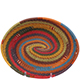 African Basket - Zulu Wire - Small Shallow Oval #79380