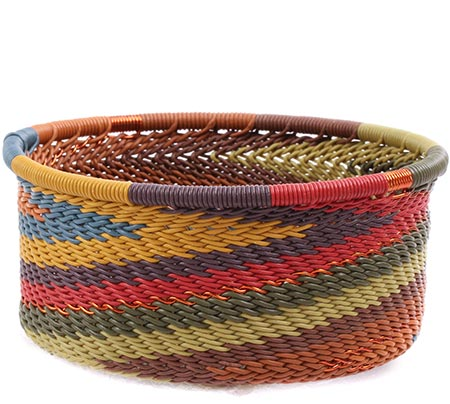 African Basket - Zulu Wire - Small Bowl with Straight Sides #79390