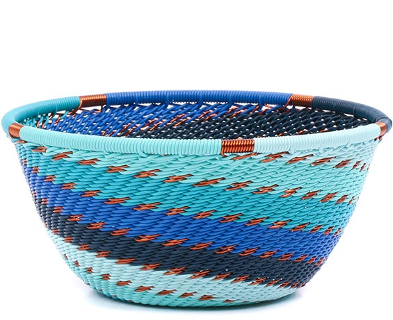 African Basket - Zulu Wire - Small Bowl #79404