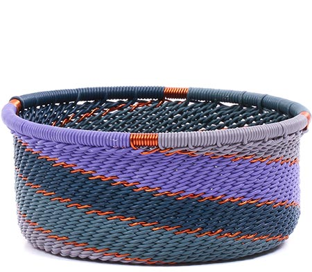 African Basket - Zulu Wire - Small Bowl with Straight Sides #79445