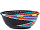 African Basket - Zulu Wire - Small Wide Bowl #79449