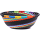 African Basket - Zulu Wire - Small Wide Bowl #79454