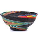 African Basket - Zulu Wire - Bowl with Base #79466