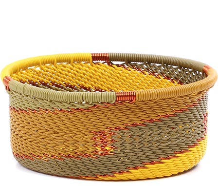 African Basket - Zulu Wire - Small Bowl with Straight Sides #79484