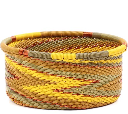 African Basket - Zulu Wire - Small Bowl with Straight Sides #79486