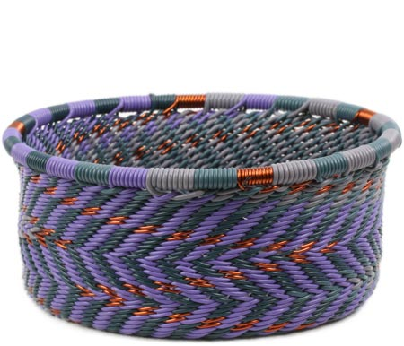 African Basket - Zulu Wire - Small Bowl with Straight Sides #81785