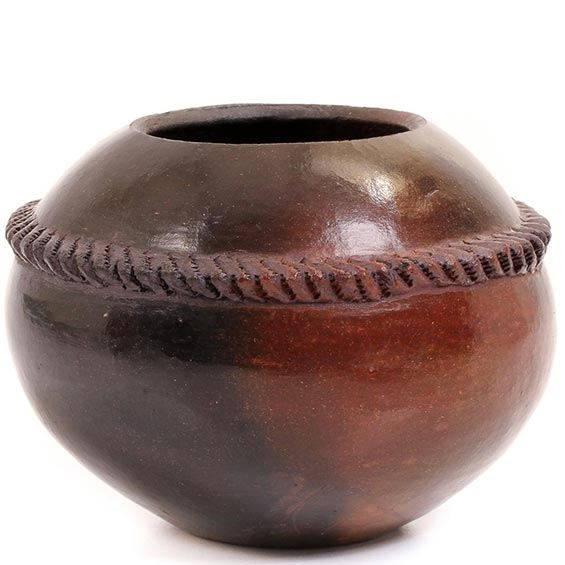 African Pottery - Zulu Amancishane Pot - 3.25 Inches Across - #54908