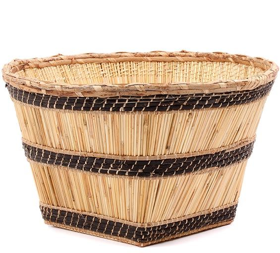 African Basket - Mossi Harvest Basket - 18 Inches Across - #78422