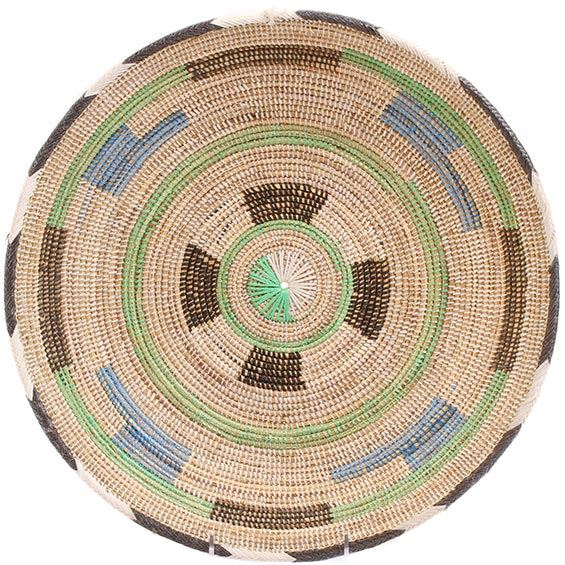 African Basket - Cameroon Coil Weave Bowl - 15 Inches Across - #72599