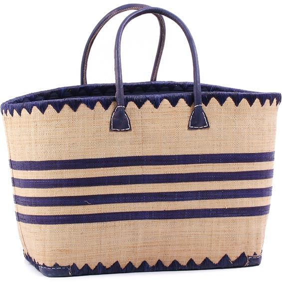 African Market Basket - Madagascar - Malagasy Tote - Approximately 20.5 Inches Across - #75876