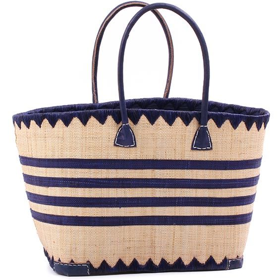 African Market Basket - Madagascar - Malagasy Tote - Approximately 18 Inches Across - #75880