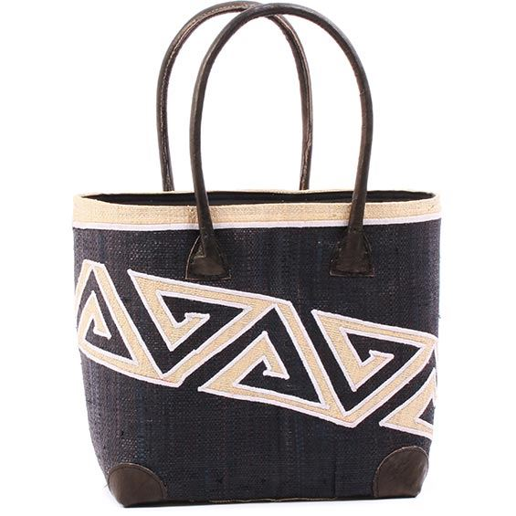 African Market Basket - Madagascar - Malagasy Tote - Approximately 13 Inches Across - #75900