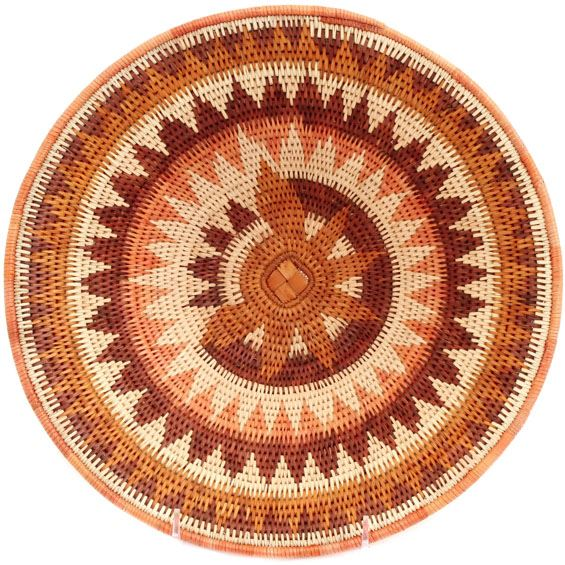 African Basket - Makalani Bowl - 11 Inches Across - #66602
