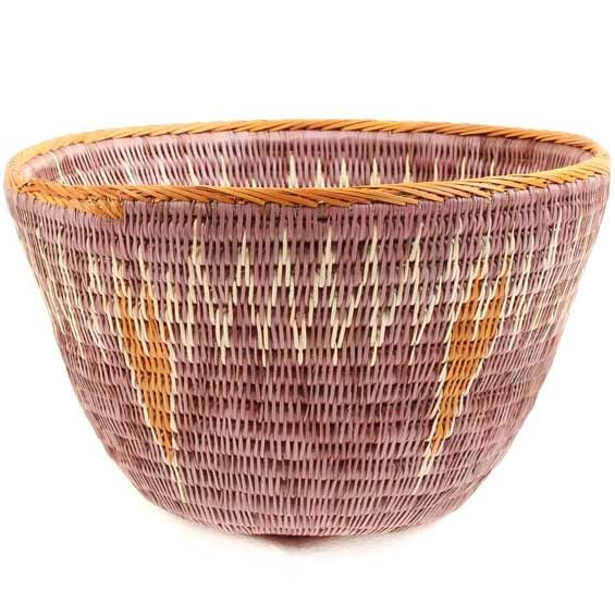 African Basket - Makalani Bowl -  8.5 Inches Across - #66625