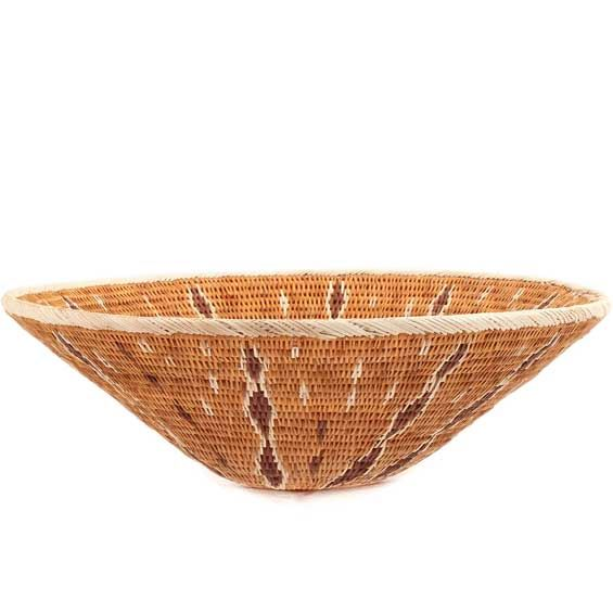 African Basket - Makalani Bowl - 11.25 Inches Across - #66649