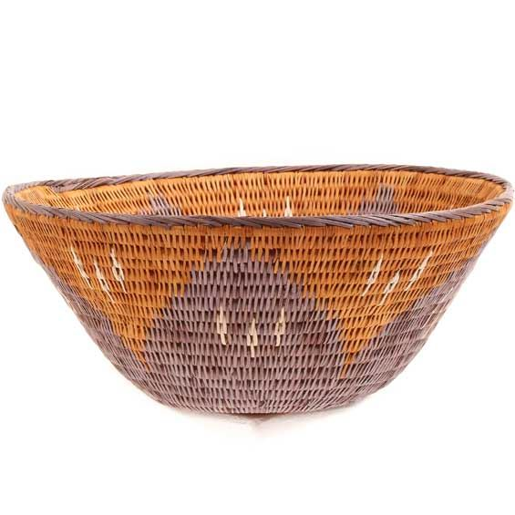 African Basket - Makalani Bowl -  9.25 Inches Across - #66650