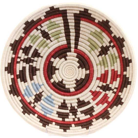 African Basket - Rwanda Sisal Coil Weave Bowl - 12 Inches Across - #33807