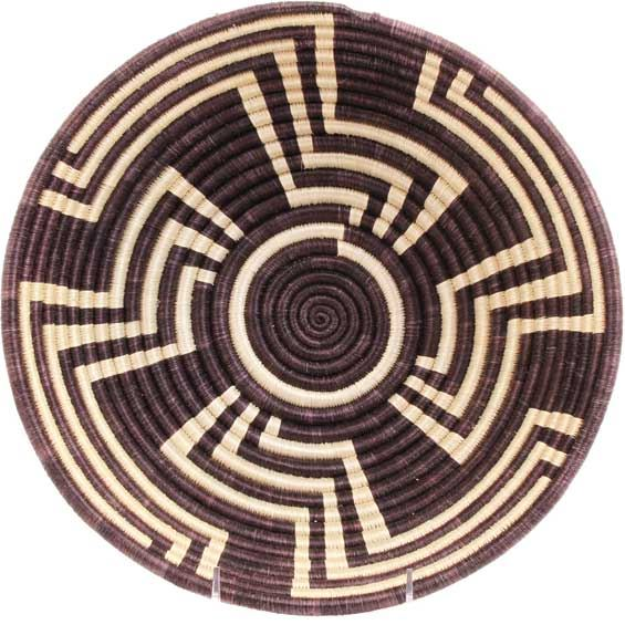 African Basket - Rwanda Sisal Coil Weave Bowl - 12 Inches Across - #42254