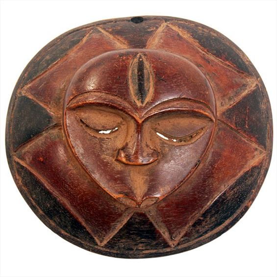 Traditional African Mask - Eket Goddess Passport Mask -  6 Inches Tall - #33618