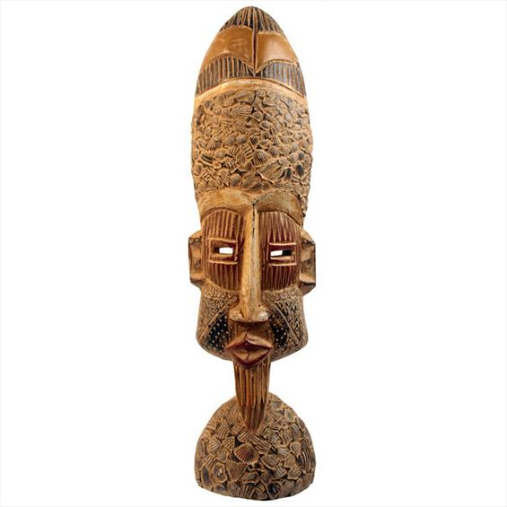 Traditional African Mask - Ashanti Mask - 21 Inches Tall - #33660