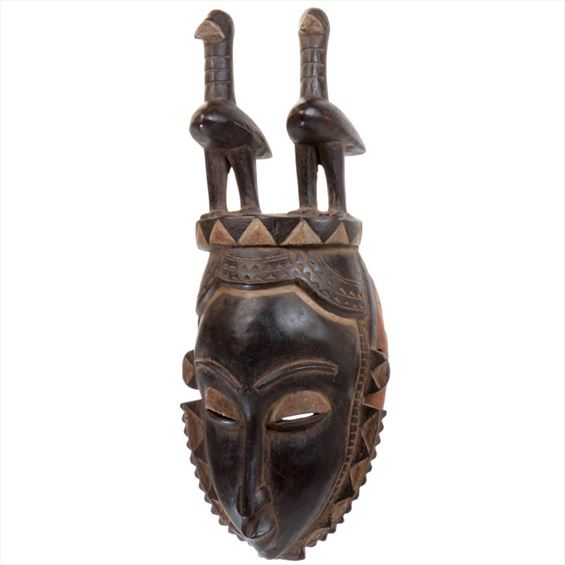 Traditional African Mask - Yaure Chief's Mask - 16 Inches Tall - #6198