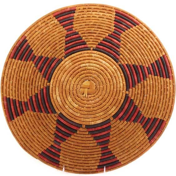 African Basket - Zulu Ilala Palm - Shallow Bowl - 15.75 Inches Across - #64403